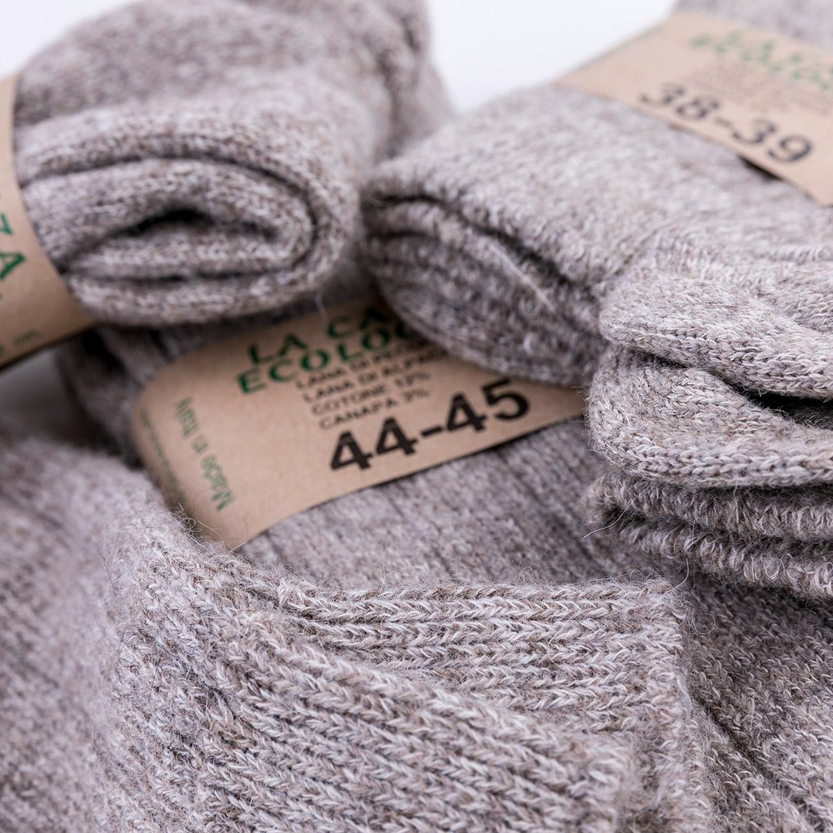 corrispondenza di colore Vendita scontata 2019 nuovi stili Calza lana di pecora e lana di alpaca lunga